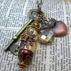 The Copper Princess-Steampunk Inspired Mixed Metal Shell Casing Swa......