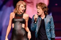Taylor Swift Mick Jaggar | Taylor Swift and Mick Jagger Perform Rolling Stones' '(I Can't Get ...