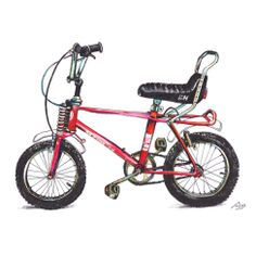 My first bike. Remembering when I learned to ride with this red BH.