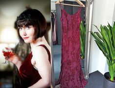 Red Velvet Dress, Velvet Gown, Purple Dress, 1920s Fashion Dresses, Vintage Dresses, Bias Cut Dress, Wine Dress, 1930s Dress, Cowl Neck Dress