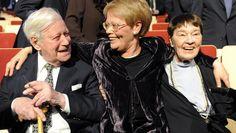Helmut Schmidt mit Familie