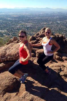 This The Bar Method Solana Beach client made time for some thigh work even after a hike up Camelback Mountain in Arizona!! #WhereDoYouBar? #barmethod #exercise #fitness #travel #Arizona
