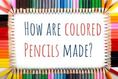 We take you through the colored-pencil factory process step by step, and answer the question, how are colored pencils made? Coloring Book Art, Coloring Sheets, Adult Coloring, Colored Pencil Lead, Colored Pencils, Types Of Pencils, Pencil Trees, Outside Paint, Stress Tests