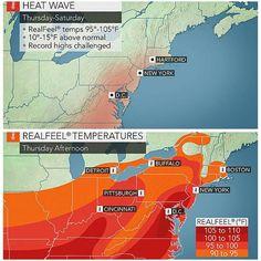 #شبكة_أجواء : توقعات بتعرض شمال شرق #أمريكا لارتفاع درجات الحرارة مشابهة لشهر يوليو هذا الاسبوع.  @alyasatnet @g.s.chasers