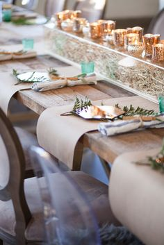 Private event featuring butcher paper placemats.  Event design and rentals provided by Eclectic Hive.