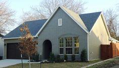 Village Homes: grey painted brick!