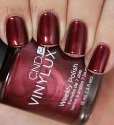 CND VINYLUX Crimson Sash | Fall 2014 Modern Folklore Collection | Peachy Polish