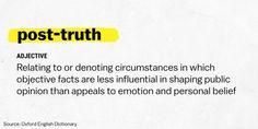 Post-Truth Dünyanın Merkezinde Yaşam