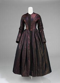 Evening Ensemble: Dress 1845, American, Made of silk by estela