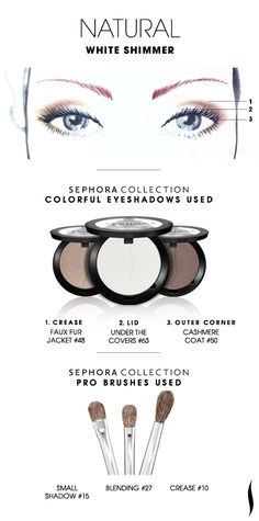 NATURAL: White Shimmer HOW TO #sephoracollection #sephora #eyeshadow #makeup #SephoraSweeps