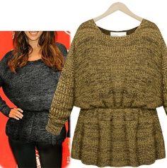 Women's Peplum Knit Sweater