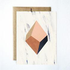 Diamond geode card