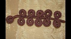 Curl number 1 for a brown dress. Crochet Paisley, Freeform Crochet, Crochet Flowers, Irish Crochet Tutorial, Vídeos Youtube, Crotchet Patterns, Needle Lace, Irish Lace, Crochet Videos