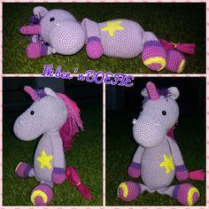 Even voorstellen: Dit is Elina Eenhoorn.  Cadeautje voor mijn neusje haar 3e verjaardag.  Patroon van#mykrissiedolls