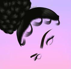 Outline Drawings, Cool Art Drawings, Art Drawings Sketches, Black Love Art, Black Girl Art, Art Girl, Planets Wallpaper, Supreme Wallpaper, Black Art Pictures