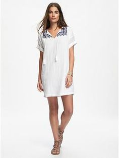Embroidered Cocoon Dress | Old Navy19.5 for mexico