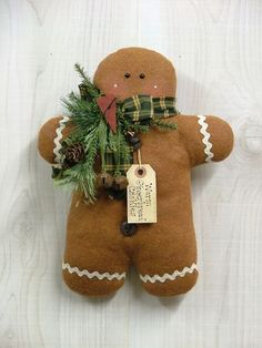 Gingerbread Boy Cookie.  Make a pocket on the back for a gift card.