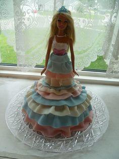 Barbie Fondant Decorated Birthday Cake
