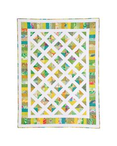The Garden Trellis Quilt Pattern is a log cabin style pattern where