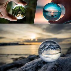 80mm Boule Décorative de Cristal Optique Transparent Pissenlit