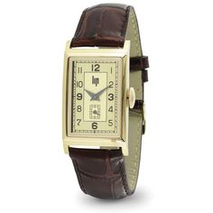 """The Winston Churchill Wristwatch.M - Made by the original manufacturer LIP, this is the replica of the renowned T-18 wristwatch presented to Sir Winston Churchill to honor his service to France in WWII. Continuing a tradition that began in 1807 when Napoleon was offered a LIP watch, a gold T-18 was awarded to """"The British Bulldog"""" in 1948 by General Charles DeGaulle (who himself wore a LIP watch)."""