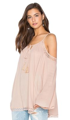 b5548f771431c Shop for Bishop + Young Cold Shoulder Peasant Top in Blush at REVOLVE. Free  2
