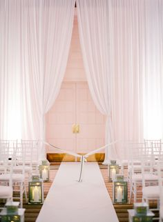 Sophisticated ceremony: http://www.stylemepretty.com/2014/03/13/glamorous-ballroom-wedding-in-naples-florida/ | Photography: KT Merry - http://www.ktmerry.com/