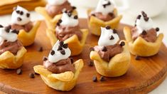 These bite-size tarts are delicious and easy to make using crescents and pudding mix.