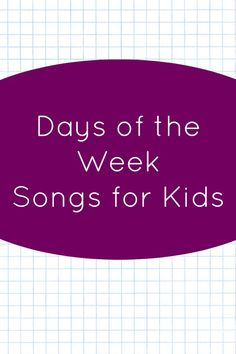 Kids can sing and dance as they learn the days of the week with this fun collection of days of the week song videos.