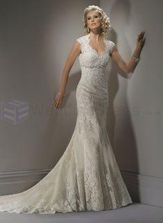 lace wedding dresses | Lace Sweetheart Neckline A-line Wedding Dress OMG OMG OMG HERES THE FRONT!