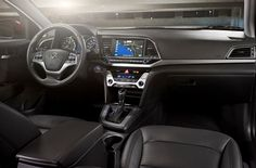 2017 Elantra Sedan - The wide design of the instrument panel provides a feeling of spaciousness and is available with a 4.2-inch color TFT LCD instrument display for improved driver visibility and functionality.