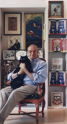 American author and illustrator Hilary Knight.  His illustrations were such a part of my childhood :)