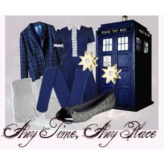 """The Tardis (Winter)"" by magicowlofmagic on Polyvore"