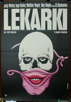 Woman Doctors (Ärztinnen). East Germany 1984 by Horst Seemann film. Polish poster by Jakub Erol 1985. Crime. Drama
