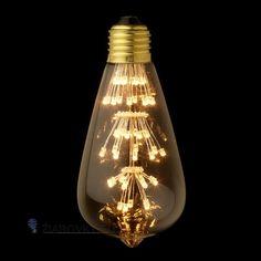 FIREWORKS žiarovka – TEARDROP - je žiarovka z retro kolekcie  FIREWORKS v tvare kvapky z minulého storočia. Tento nový typ žiarovky spája historický vzhľad s novou formou LED technológie. Tvarované sklo žiarovky má vzhľad tradičných EDISON žiaroviek a hodí sa ako dekoračné osvetlenie do každej domácnosti, reštaurácie alebo do hotela. Na rozdiel od iných typov dekoračných žiaroviek nevyžaruje UV žiarenie, čo je bezpečnejšie pre dlhodobé použitie a je menej atraktívna pre hmyz.