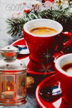 Merry Christmas Gif, Christmas Coffee, Christmas Images, Good Morning Coffee, Good Morning Greetings, Good Morning Good Night, Chocolate Cafe, Hot Chocolate Bars, Coffee Gif