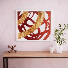 The Arts Capsule Ink Print - Crimson Color Wash | west elm