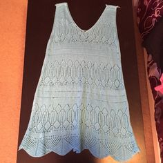 NWOT- knitted coverup beach dress NO trades, NO PayPal, and will consider reasonable offers NOT UO, BM -just for listing ❤️❤️ Brandy Melville Swim Coverups