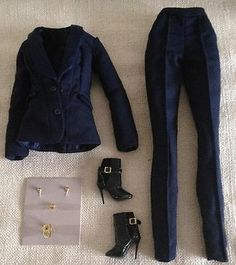 "OUTFIT FROM PERFECTLY SUITED GISELLE 12"" FASHION ROYALTY CINEMATIC CON. LTD DOLL 