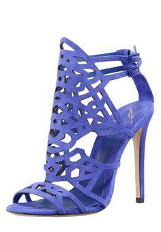 Stunning Blue Suede Sandals