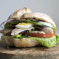"""Chicken Pan Bagnat 