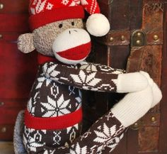 Gift Item | Holidays Brown Sweater Monkey. Just right for that special HOME! Send one to yourself and one to a friend, today! SOC ID 72492
