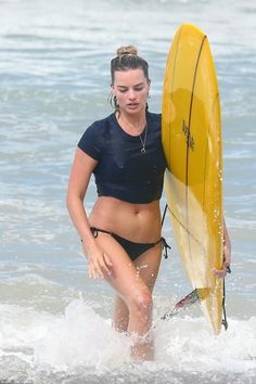 Adventure girl: Margot Robbie shows off her strong bikini body as she goes surfing with husband Tom Ackerley in Costa Rica Margot Robbie Bikini, Arlequina Margot Robbie, Actress Margot Robbie, Margot Robbie Harley Quinn, Margo Robbie, Margaret Robbie, Martin Scorsese, Costa Rica, People