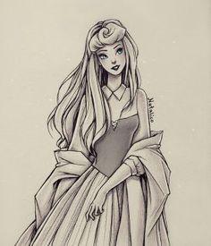 Princess aurora as briar rose princess aurora disney princes Disney Princess Drawings, Disney Sketches, Disney Drawings, Arte Disney, Disney Fan Art, Disney Magic, Beautiful Drawings, Cute Drawings, Drawing Sketches