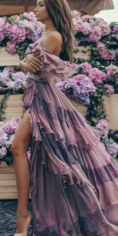 Bohemian Maxi Purple Dress - Elegant boho-chic dress, boho style clothing, long fall dress Source by - Elegant Dresses, Beautiful Dresses, Casual Dresses, Long Fall Dresses, Dress Long, Bohemian Schick, Boho Outfits, Fashion Outfits, Summer Outfits