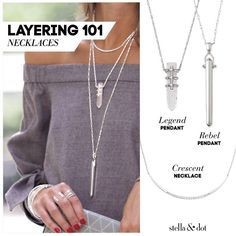 Are you a Rebel? The Stella & Dot Rebel Pendant will be your #1 go-to this Fall. Looks awesome with t-shirts, blazers, sweaters and tunics. Get it in silver, gold or rose gold. You don't have to be a super model to wear it (like Alessandra Ambrosio)....but you'll look like one every time you put it on! I've NEVER had a client return one...it's a staple every stylish girl should have in her collection! Free returns if you aren't in love....trust me on this one. You need this necklace.