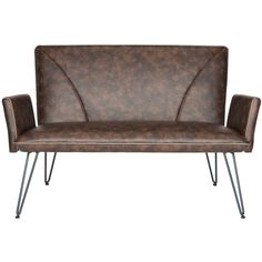 Dot & Bo Sarra Settee - Antique Brown ($449) ❤ liked on Polyvore featuring home, furniture, sofas, brown furniture, brown sofa, brown couch and plush sofa