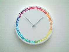 Colours Clock from Richard Shed Studio.