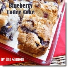 Blueberry Coffee Cake Recipe -  Buttery Crumbly Streusel Topping.  Mom might need this in bed Sunday morning!