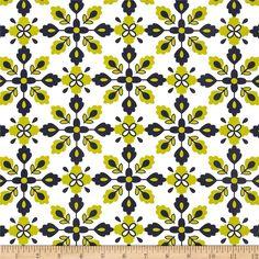 Kanvas Catalina Bandana White Chartreuse